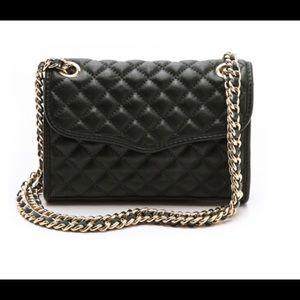 Rebecca Minkoff quilted mini affair bag black gold